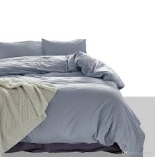 holiday gift nordic simple solid color light grey comfy cotton bedding duvet cover set pillowcase twin queen king size gingham bedding bedding from