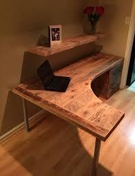 rustic l shaped computer desk impressive best 25 l shaped office desk ideas on shape home designing inspiration