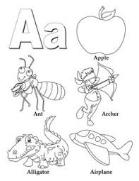 Small Picture I Spy Alphabet Coloring page for each letter in the alphabet Free