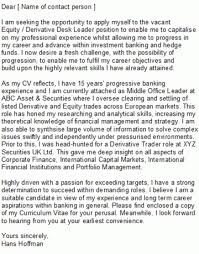 Investment Banking Cover Letter Sample With Regard To Banker Cover