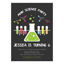 Science Birthday Party Invite 5x7