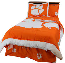 clemson tigers bed in a bag twin with team colored sheets twin