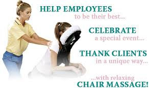 chair massage. chair massage utilizes a specially-designed that allows access to the back, neck, shoulders, and arms. client is seated in forward-facing