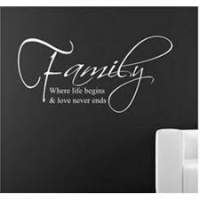 Us 475 5 Offlove Never Ends Quotes Wall Stickers Family Wall Decals Lettering Wall Art For Living Room 8015 In Wall Stickers From Home Garden On