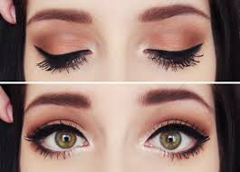 easy simple and super cute makeup darken makeup towards outer eye and lighten towards eye