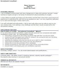 Consultant Cv Recruitment Consultant Cv Example Icover Org Uk