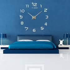 Small Picture Aliexpresscom Buy 2017 New Wall Clock 3D DIY Acrylic Mirror