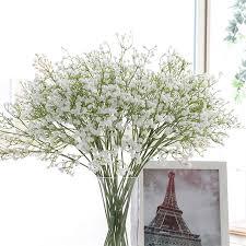 Artificial Fake Babys <b>Breath</b> Gypsophila Silk Flowers Bouquet ...