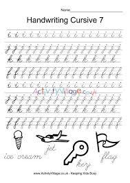 Handwritting Practice Handwriting Practice Cursive 7
