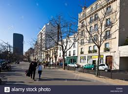 Hotel Edgar Quinet France Paris The Boulevard Edgar Quinet Stock Photo Royalty