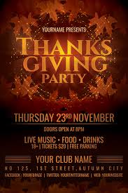 thanksgiving party flyer thanksgiving party flyer template by dilanr on deviantart