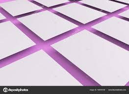 Blank White Flyer Mockup On Violet Background Stock Photo