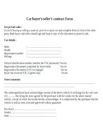Car Sale Document Template Used Contract Private Agreement