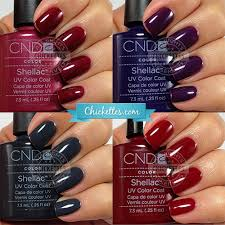 Cnd Shellac Swatches Winter Colors Chickettes Natural