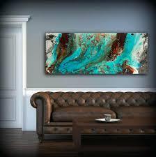 gorgeous aqua wall decor luxury print blue and brown art teal kitchen wal