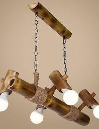 household lighting. Scandinavian American Country Balcony Bamboo Rope Chandelier For New Household Lighting Ideas