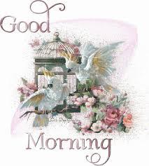 glittering good morning graphic