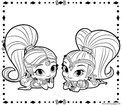 Shimmer And Shine Printable Coloring Pages Fresh Color Pages Print