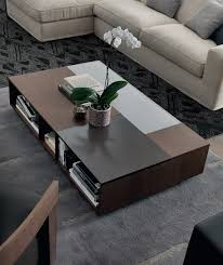 view in gallery stylish rectangular coffee table with open compartments