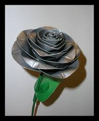 love duct tape. Duct Tape Rose Grey By DuckTapeBandit Love
