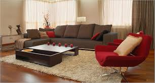 Red Decoration For Living Room Brown Living Room Design Ideas With Elegant Leather Sofa Set