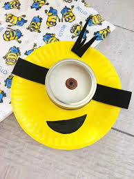 fun minion paper plate craft for kids