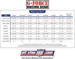 Racing Shoe Size Chart G Force Gf125 Pyrovatex Racing Pant Only Red