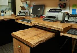 home office workstation. Home Office Workstation. Exquisite Workstation Crafted Using Raw, Natural Wood [design E