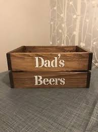 personalised wooden beer crate box gift bar sign storage party