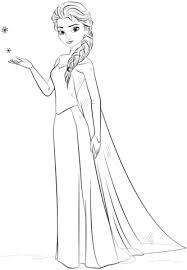 Disegno Di Elsa Di Frozen Da Colorare Disegni Da Colorare E