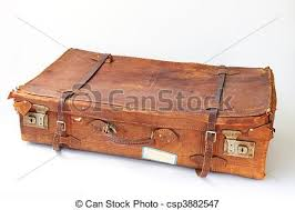 Old Leather Suitcase Stock Photo