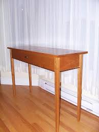 shaker hall table. This Shaker Hall Table Is Made Of Cherry. The Legs Are Tapered. A Bead Wenge Runs Along Bottom Skirts. Drawer Cut Directly From