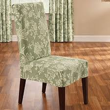 surefit verona short dining chair slipcover in sage beyond the rack