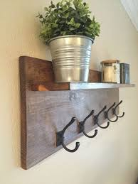 Wall Mounted Coat Rack With Hooks Rustic Wall Mounted Coat Rack With Shelf By WillsWorkshoppe 16