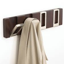Flip Coat Rack Awesome Rectangle Flip Hook Coat Rack Espresso In Wall Hooks