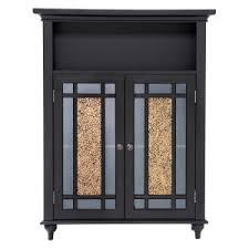 bathroom floor storage cabinets. Beautiful Floor Elegant Home Windsor Espresso Bathroom Double Door Floor Cabinet On Storage Cabinets I