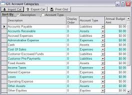 Gl Chart Of Accounts Defining Your G L Chart Of Accounts