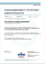 Quality Management System As9100 Rev C And Iso 9001 2008 Pacamor