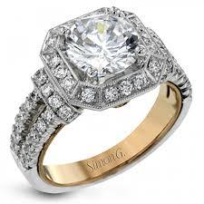 cushion shaped diamond halo engagement ring 4620