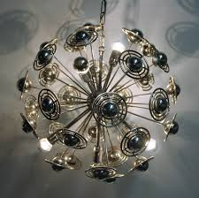 vintage chrome sputnik chandelier 1960s