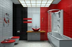 Concept Red Bathroom Color Ideas Other Very Often Used Is It To Creativity