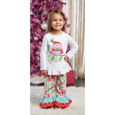 Christmas Owl Pant Set (3T) by Mud Pie