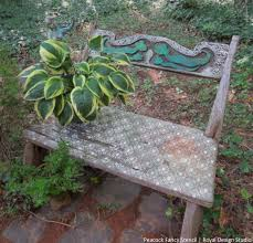 outdoor furniture stencil bench paint chalk paint outdoor furniture painted furniture repurposing bench painted chalk paint