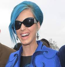 katy perry in bright blue casadei pumps at paris fashion week blue angel rolf benz entire collection