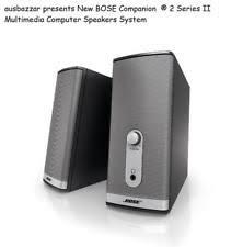 bose companion 2 speakers. bose companion ® 2 series ii multimedia computer speakers system brand new bose i