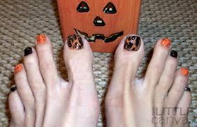 The Little Canvas: Guest Post - A Halloween Pedi! | Nails Ideas