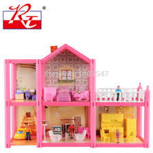 wholesale new large size diy dollhouse assemble villa plastic miniatura doll house furniture 3d miniature dollhouse toys gits for girls affordable plastic affordable dollhouse furniture