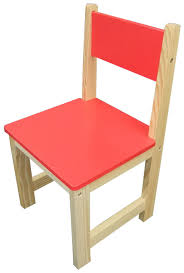 childrens wooden chair red set of 2