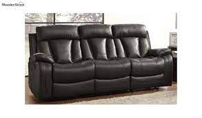 casanoy leatherette 3 seater