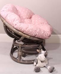 pink small papasan chair